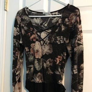 Long sleeve floral body suit